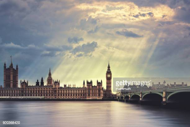 the big ben in london - westminster bridge stock pictures, royalty-free photos & images