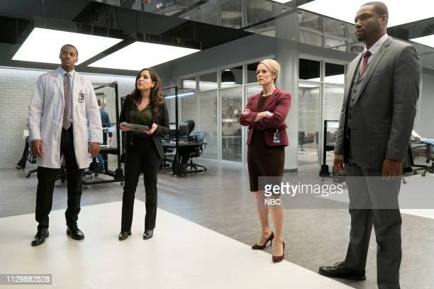 BLINDSPOT 'The Big Blast from the Past Episode' Episode 414 Pictured Jordan JohnsonHinds as Stuart Audrey Esparza as Tasha Zapata Mary Stuart...