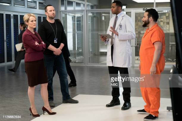 BLINDSPOT 'The Big Blast from the Past Episode' Episode 414 Pictured Mary Stuart Masterson as Eleanor Hirst Sullivan Stapleton as Kurt Weller Jordan...