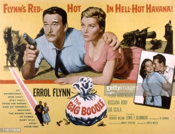 The Big Boodle poster Errol Flynn Rosanna Rory Gia Scala 1957