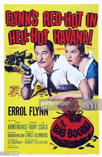 The Big Boodle poster US poster art from left Errol Flynn Rosanna Rory 1957