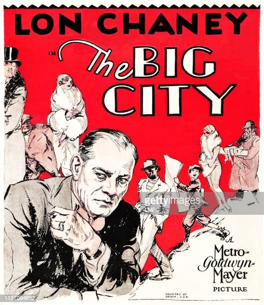 The Big City poster bottom left foreground Lon Chaney Sr 1928