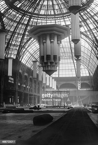The big cupola of the Grand Palais before the Paris Auto Show in September 1929 in Paris France