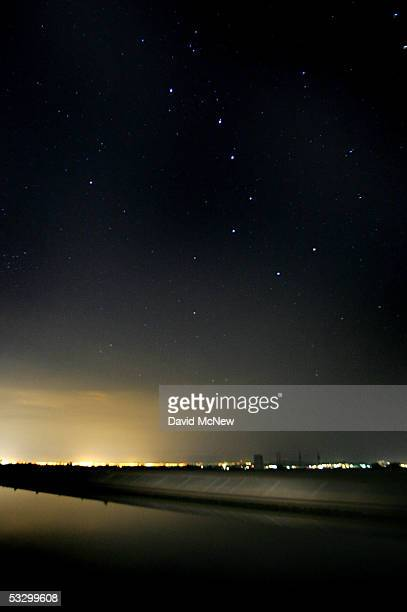 The Big Dipper constellation shines over the California Aqueduct which carries water hundreds of miles from northern California to the state's...