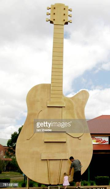 The 'Big Golden Guitar' is seen February 16 2006 in Tamworth Australia There are now close to 150 'Big Things' around Australia The trend began with...