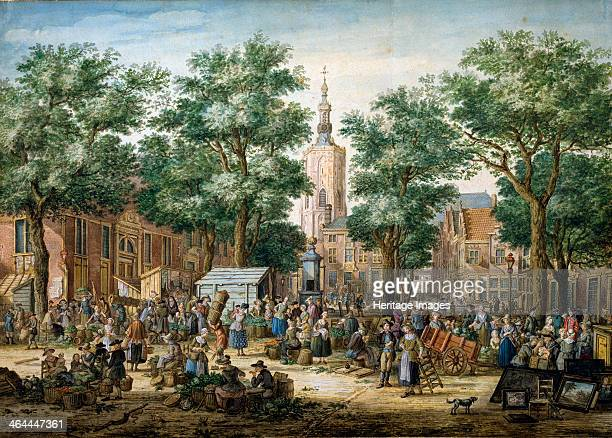 'The Big Green Market in The Hague' 1769 Found in the collection of the State A Pushkin Museum of Fine Arts Moscow