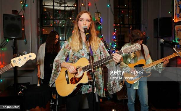 The Big Moon performs at Mulberry's 'It's Not Quite Christmas' party on November 15 2017 in London England