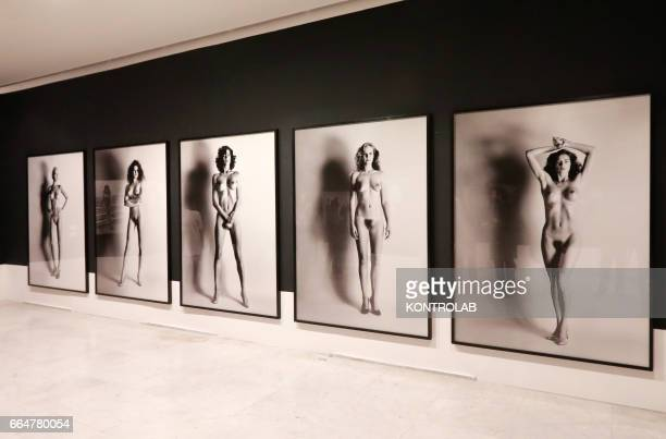 The Big Nudes section of the Helmut Newton pictures exibition in PAN Art's palace in Naples on February 24 2017