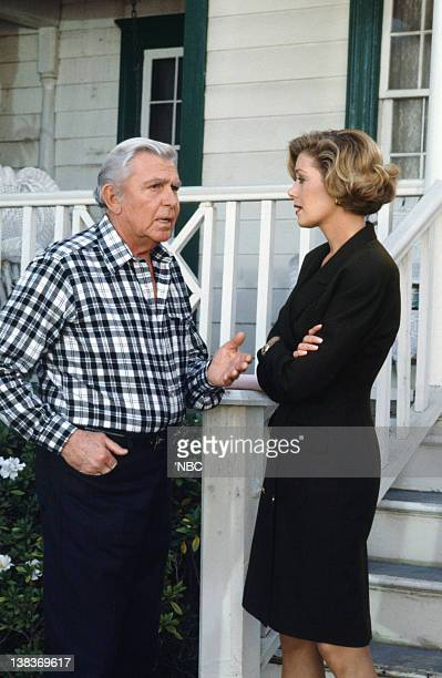 MATLOCK The Big Payoff Episode 16 Pictured Andy Griffith as Benjamin Matlock Nancy Stafford as Michelle Thomas