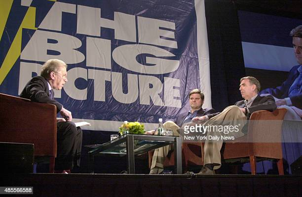 The Big Picture media conference at the Grand Hyatt Hotel TV talk host Sir David Frost Steve Case Chairman of the Board of AOL Time Warner and Gerald...