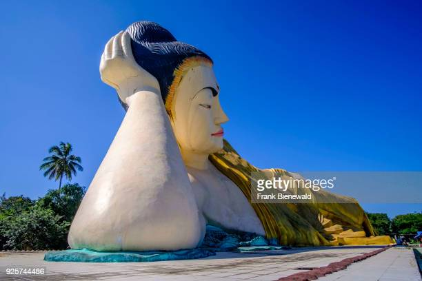 The big reclining Buddha statue Nya Thar Lyaung is one of many important religious places in town