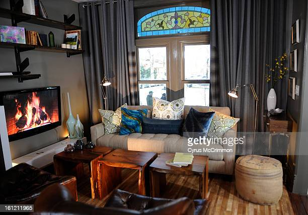 The big 'reveal' moment for the newly designed home of Erin and Ryan Fletter in Denver occur on Tuesday March 14 2011 The crew from HGTV'd filmed the...