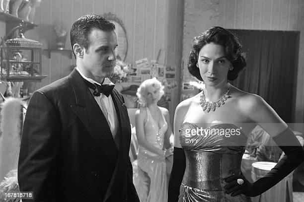 "The Big Snag"" Episode 413 -- Pictured: Pete Lattimer as Eddie McClintock, Joanne Kelly as Myka Bering --"