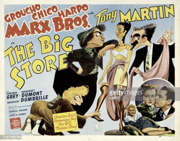 The Big Store poster Harpo Marx Chico Marx Virginia O'Brien Groucho Marx [The Marx Brothers] Marion Martin Virginia Grey Tony Martin 1941