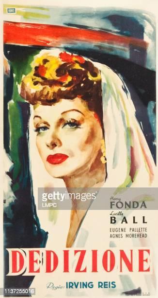 The Big Street poster Lucille Ball on Italian poster art 1942