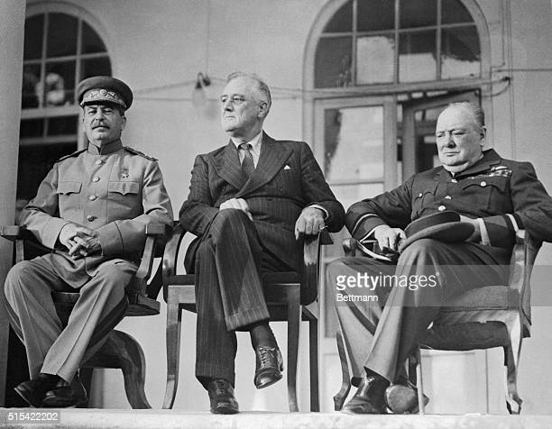 The Big Three The fate of a doomed Axis was sealed when these three meeting for a threeday conference in Teheran put their heads together and...