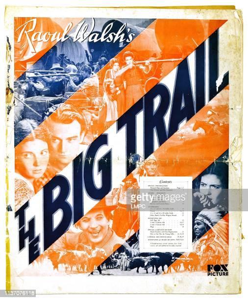 The Big Trail poster John Wayne Marguerite Churchill El Brendel premiere program 1930