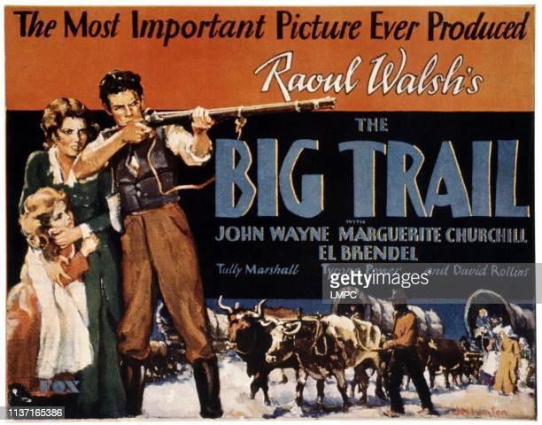 The Big Trail poster US poster from left Marguerite Churchill John Wayne 1930