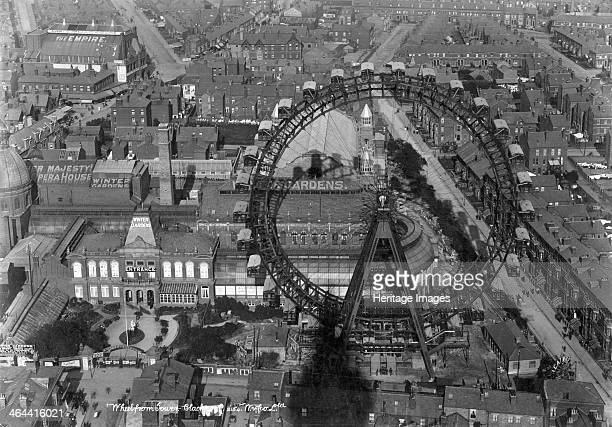The Big Wheel, Blackpool, Lancashire, 1890-1910. A view over the rooftops looking down on the Winter Gardens and the Big Wheel. The Winter Gardens...