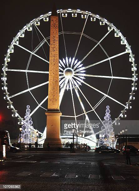 The big wheel is seen on place de la concorde on November 23 2010 in Paris France