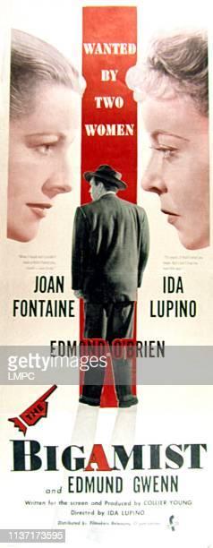 The Bigamist, poster, Joan Fontaine, Edmond O'Brien, Ida Lupino, 1953.