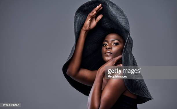 the bigger the hat, the bigger the dreams - haute couture stock pictures, royalty-free photos & images