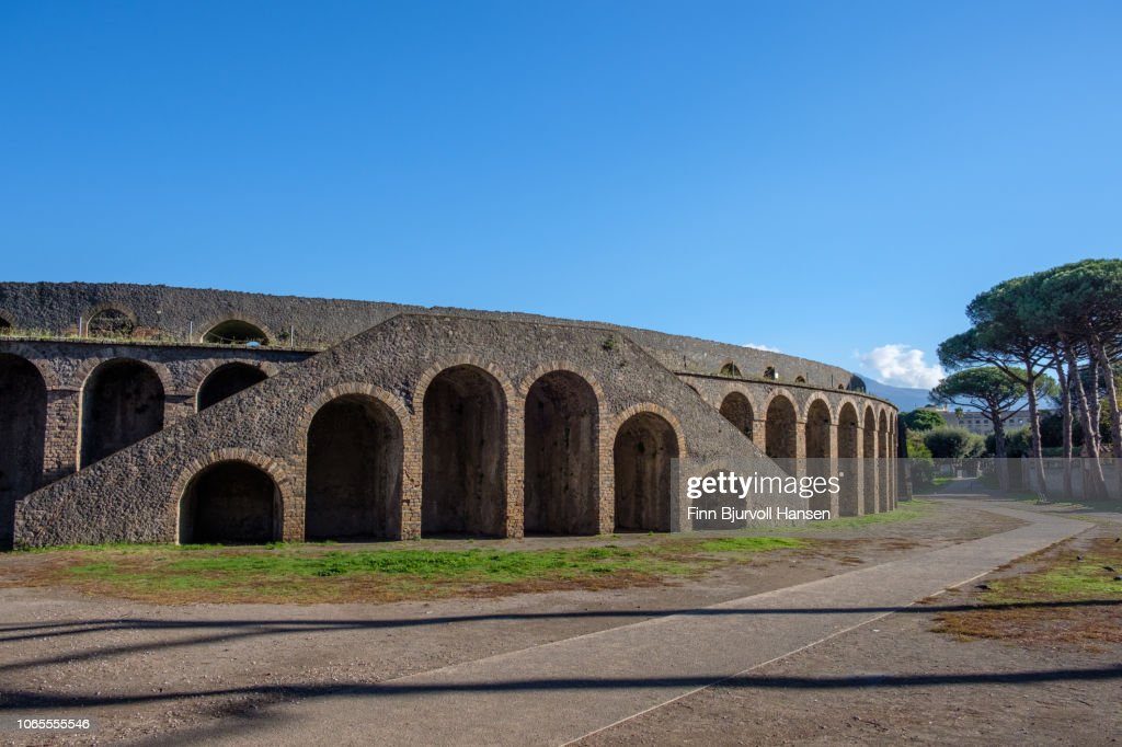 The biggest Amfi in the city of Pompeii, the Amfi Teatro : Stock Photo