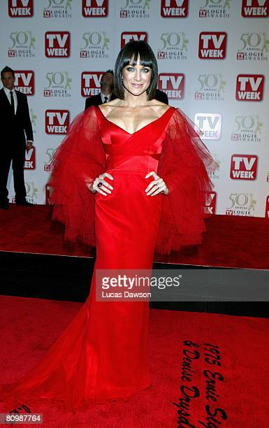 The Biggest Loser perosnal trainer Michelle Bridges arrives on the red carpet at the 50th Annual TV Week Logie Awards at the Crown Towers Hotel and...