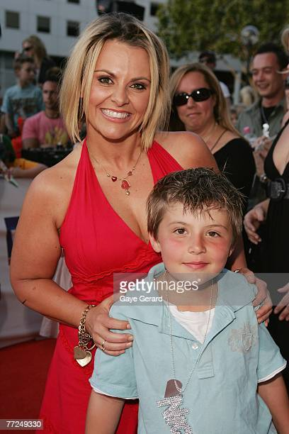 The Biggest Loser's Ajay Rochester and her son Kai arrive at the Nickelodeon Australian Kids' Choice Awards 2007 at the Sydney Entertainment Centre...