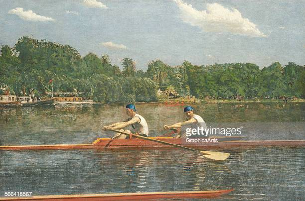 The Biglin Brothers Racing by Thomas Eakins oil on canvas 1872 From the National Gallery Washington DC