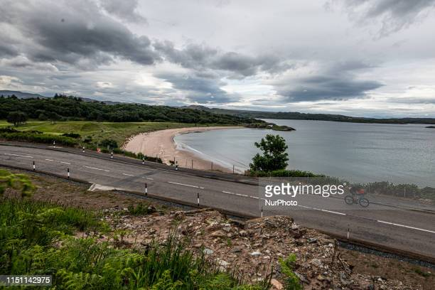 The bike course around the highlands during the Celtman edition 2019, the extreme Triathlon race on Scottish highlands, on June 15 in Wester Ross,...