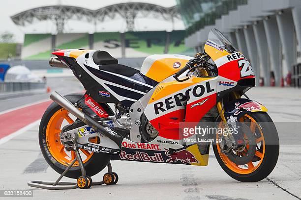 The bike of Dani Pedrosa of Spain and Repsol Honda Team during the MotoGP Tests In Sepang at Sepang Circuit on January 31 2017 in Kuala Lumpur...
