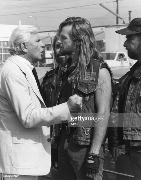 MATLOCK 'The Biker' Episode 10 Pictured Andy Griffith as Benjamin Matlock Stephen Meadows as Nicky Tower Photo by NBCU Photo Bank