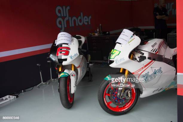 The bikes of Kiefer Racing team park in the paddock in memory of Stefan Kiefer of Germany during the MotoGP Of Malaysia Free Practice at Sepang...