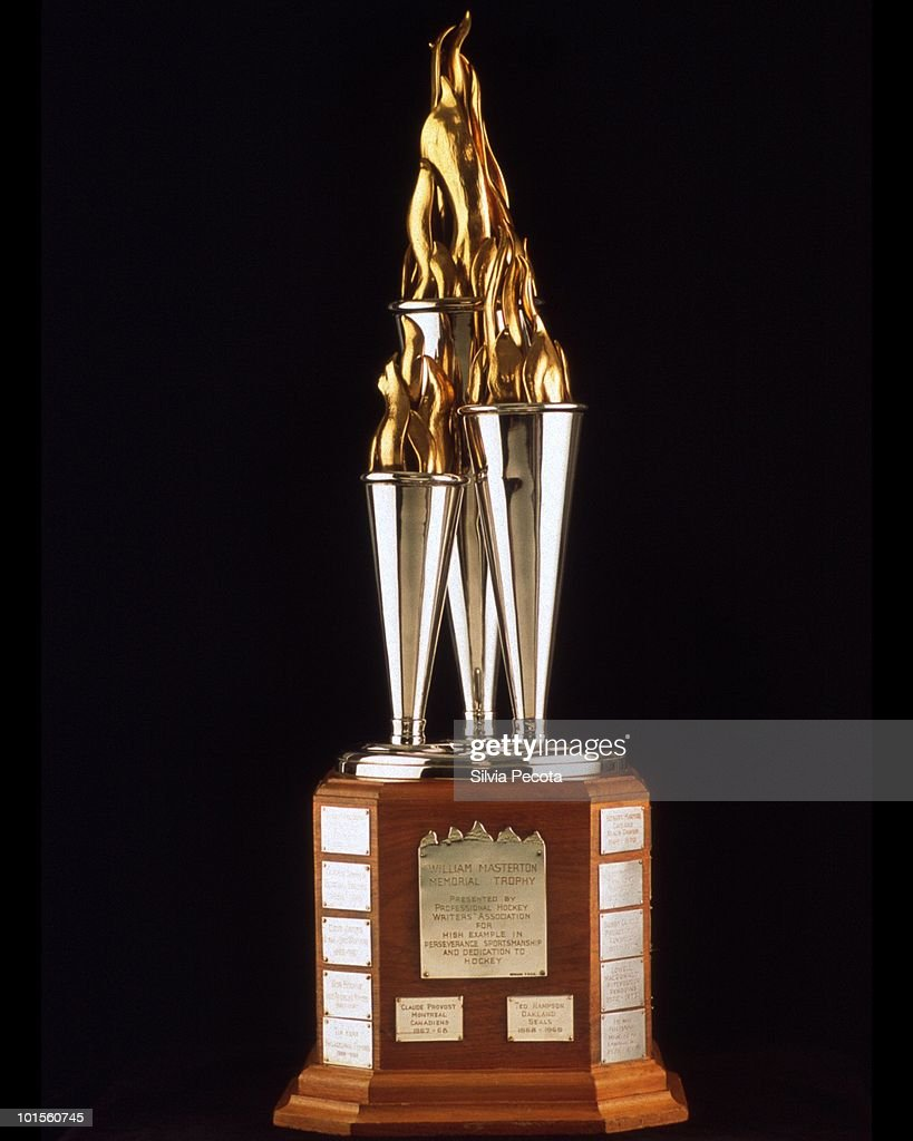 The Bill Masteron Memorial Trophy is awarded annually to the National Hockey League player who best exemplifies the qualities of perseverance, sportsmanship, and dedication to ice hockey.