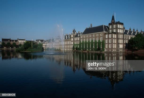 The Binnenhof complex on the Hofvijver lake The Hague South Holland Netherlands 13th century