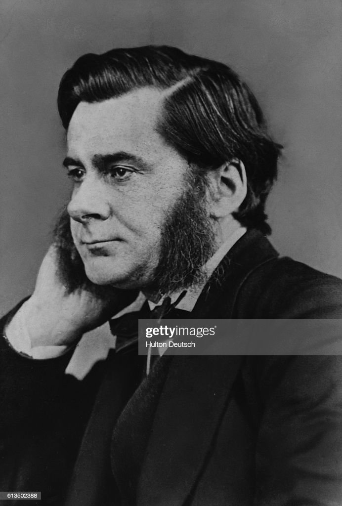 The biologist Thomas Henry Huxley (1825-1895). He was an influencial publicist of the evolutionary theories of Charles Darwin.
