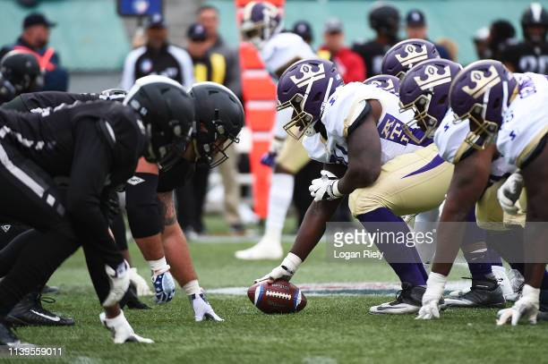 The Birmingham Iron play the Atlanta Legends during the second half of the Alliance of American Football game at Legion Field on March 31 2019 in...
