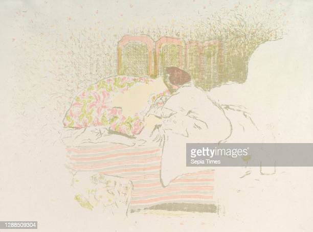 The Birth of Annette, ca. 1899, Color lithograph on China paper; trial proof of undescribed early state, sheet: 16 7/8 x 22 3/8 in. , Prints, edouard...