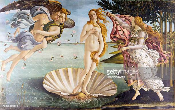 The Birth of Venus by Sandro Botticelli tempera of canvas circa 1486 from the Uffizi Gallery Florence