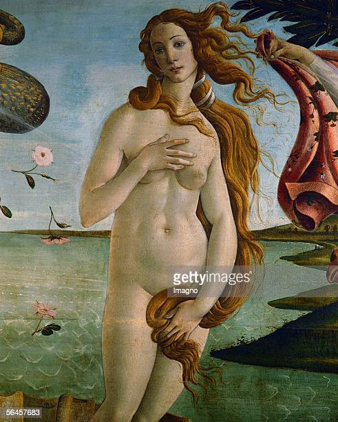 The Birth of Venus Detail Tempera on canvas 134 x 175 cm Inv 878 [Die Geburt der Venus Detail Tempera 1486]