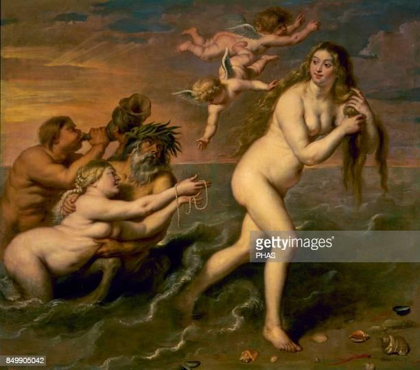 The birth of Venus Painted by Cornelis de Vos Museum of Prado Madrid Spain
