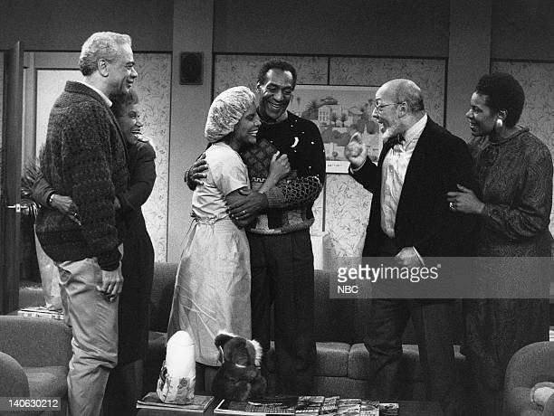 "The Birth: Part 1 & 2"" Episode 6 & 7 -- Aired 11/10/88 -- Pictured: Earle Hyman as Russell Huxtable, Clarice Taylor as Anna Huxtable, Phylicia Rashad..."