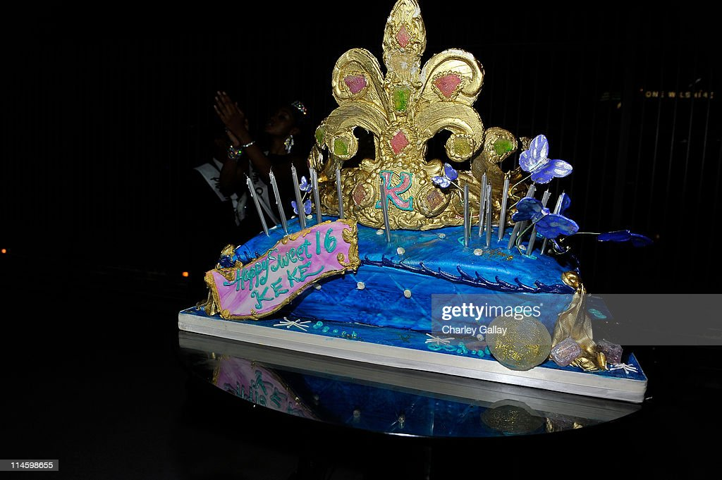 Stupendous The Birthday Cake Is Seen During Keke Palmers Sweet 16 Birthday Birthday Cards Printable Opercafe Filternl