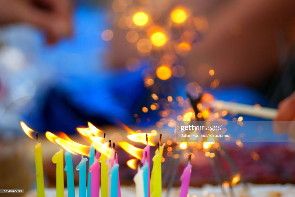 The birthday cake : Stock Photo
