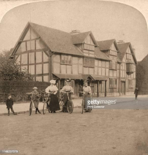"The Birthplace of Shakespeare, Stratford on Avon, England', 1896. From ""Underwood and Underwood Publishers, New York-London-Toroto Canada-Ottawa..."