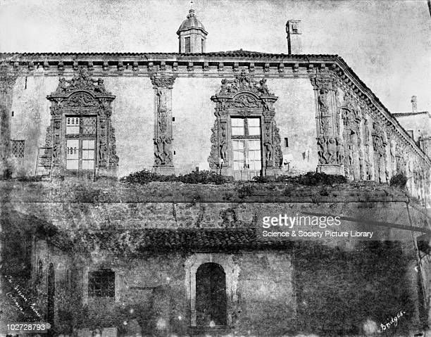 The Biscari Palace Catania Sicily Italy 1846 The Biscari Palace Catania Sicily Italy 1846 Calotype by Reverend George Wilson Bridges Bridges went to...