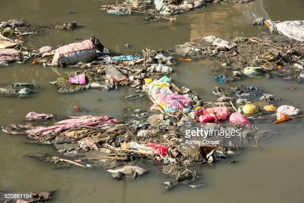 the bishnumati river running through kathmandu in nepal - condition stock pictures, royalty-free photos & images