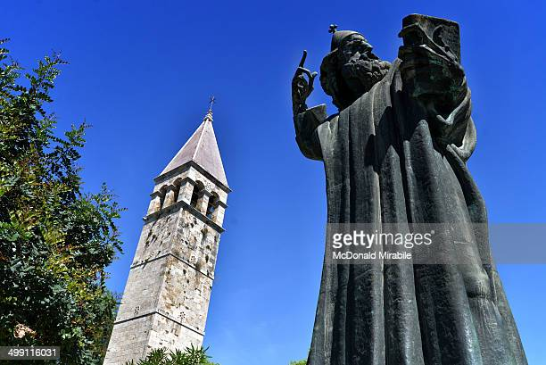 The Bishop Gregory of Nin statue sits to the north of the Palace and Old Town of Split, just outside the Golden Gate.