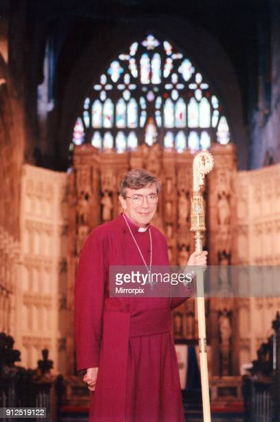 The Bishop of Newcastle the Right Reverend Martin Wharton inside St Nicolas Cathedral Newcastle upon Tyne Circa 2000